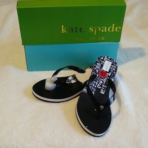 Kate Spade Milli Sandals Flip Flop Wedges. Sz 10